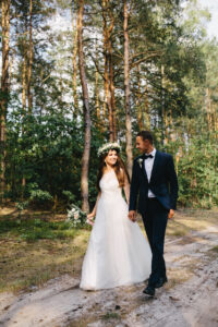 fotografia ślubna, sesja plenerowa w stylu boho